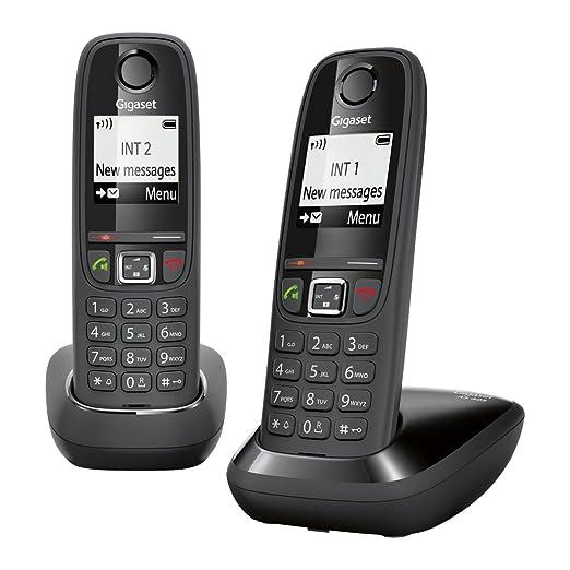 140 opinioni per Gigaset AS405 Duo Telefono Cordless DECT/GAP, Nero [Francia]