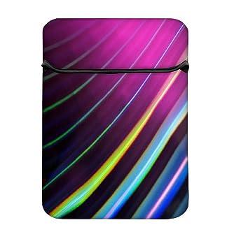 Snoogg Líneas De Color 14, fácil acceso funda acolchada para ...