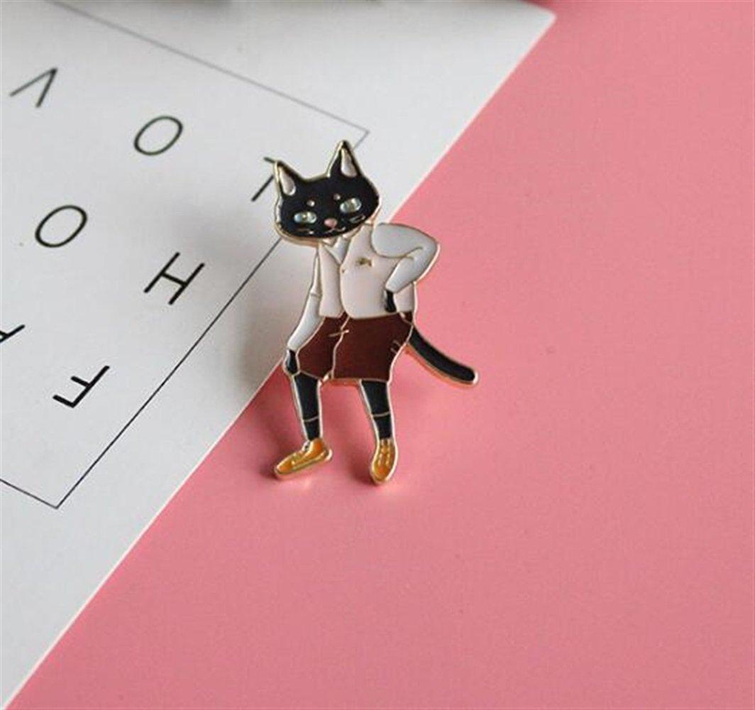 Enamel Pin Badge Souvenir Dessin animé M. Kitty Broches Bouton Badge Vêtements Accessoires TOUYOUIOPNG