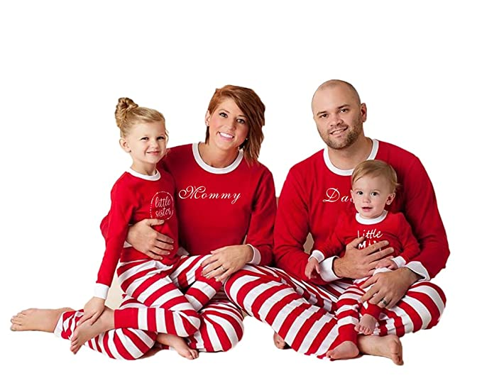 Holiday Family Matching Sleepwear Red Stripe Christmas Pyjamas Set (Boys 6d9da8d3f