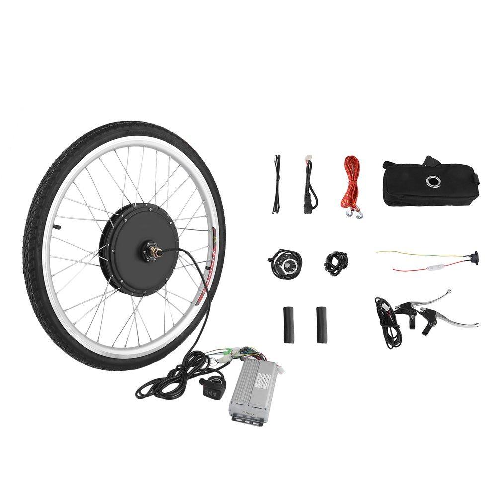 Genuine store 26インチ 48V 1000W E-Bike フロントホイール 電動自転車モーター変換キット ユニバーサルモーターハブ 26 x 1.75/1.95/2.125用   B07KR6LT3P