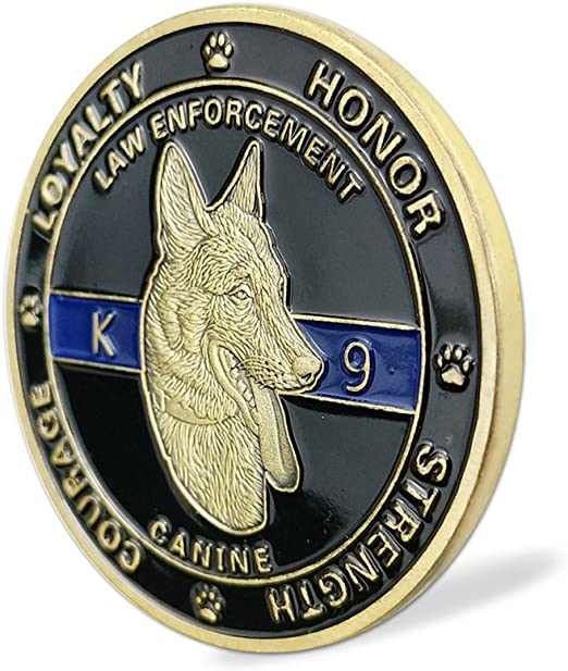 US Amry Militaria K9 Dog Canine Loyalty Honor  Challenge Coin