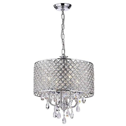 Amazon.com: Lámpara de techo de cristal con 4 luces para ...