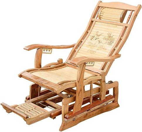 : Zero Gravity Bamboo Chair Foldable Lounge Chair