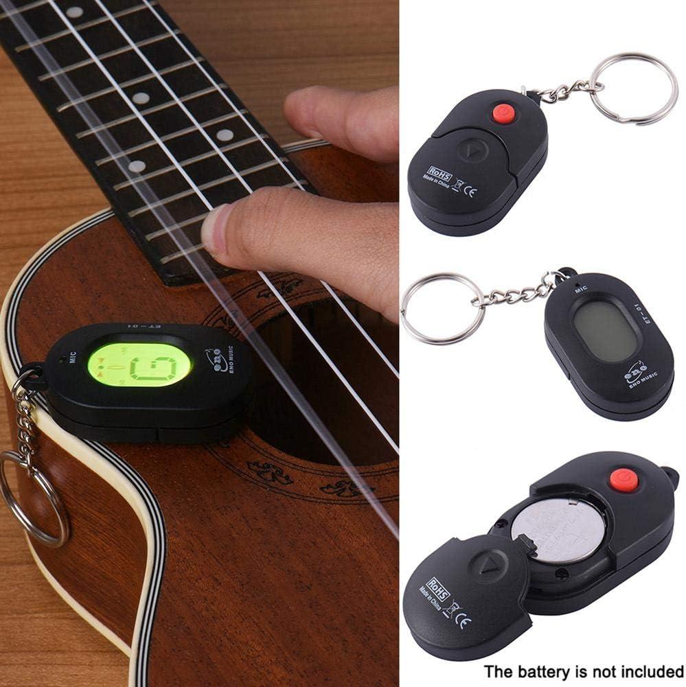 ENO Guitar Tuner Llavero Colgante Instrumento universal Sintonizador cromático Automático de alta sensibilidad Accesorios for guitarra ET-01 (Color : ET 01)