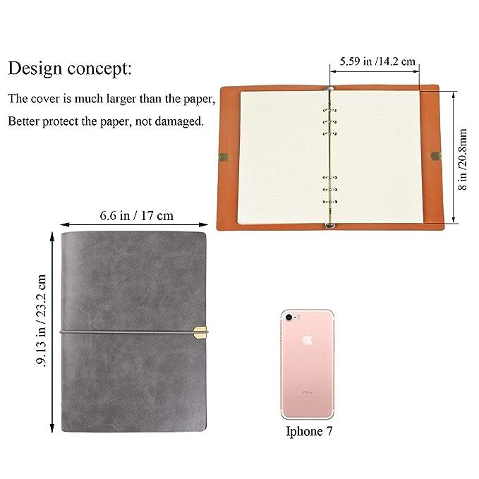 Amazon.com: Cuaderno de piel sintética para negocios, diario ...