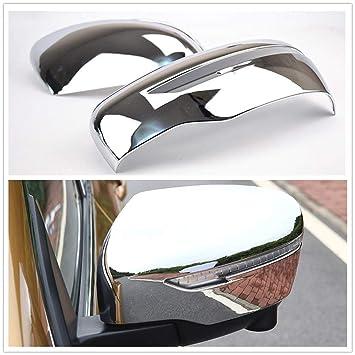 para Nissan Qashqai J11 XTrail T32 Murano Espejo retrovisor de Puerta Lateral Cromado decoración 2 Piezas: Amazon.es: Coche y moto