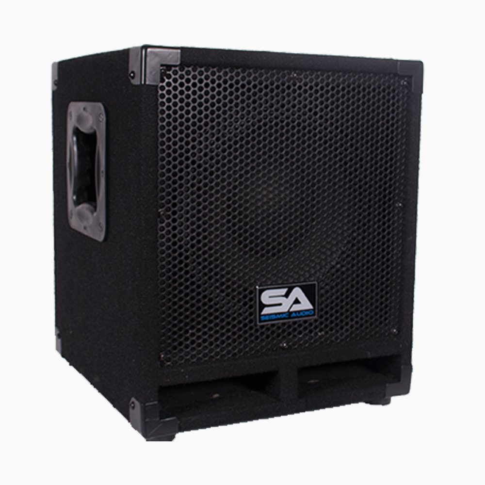 Seismic Audio Really-Mini-Tremor Powered 10-Inch Pro Audio Subwoofer Cabinet 250-Watts RMS Active Subwoofer by Seismic Audio