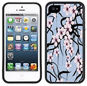 LJF phone case Cherry Blossoms Handmade iPhone 5 5S Black Case