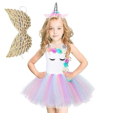 Bloibfs Unicornio Princesa Tutú Vestido Disfraces Niña