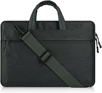 "ORICSSON 10 11.6"" 12inches Black Canvas Laptop Messenger Bag,Laptop Briefcase Shoulder Bag"