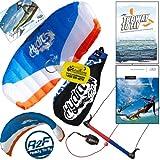 HQ Hydra II 420 V2 Water Trainer Kite Bundle : Including 'The Way To Fly' Beginner Kitesurfing Instructional DVD + IKO Student Handbook + WindBone Kiteboarding Key Chain