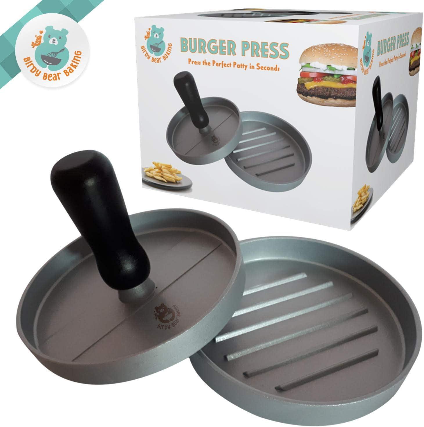 /& Grilling Utensil Kitchen By Kitchen Winners Nonstick Hamburger Press Aluminum BBQ