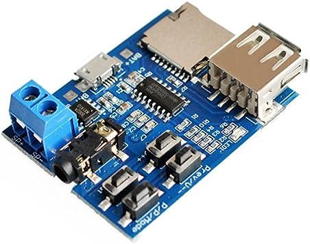 TF Card U disque Amplificateur de décodage Lecteur Audio format MP3 Decoder Board Module