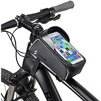 Bolsa De Marco Frontal para Bicicleta Bolsa para Teléfono Impermeable para Bicicleta, Cremallera Impermeable, Pantalla Táctil, Orificio De Carga, para Teléfonos Inteligentes De Menos De 6.0 Pulgadas