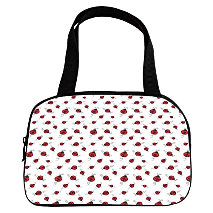 Amazoncom Polychromatic Optional Small Handbag Pink Ladybugs