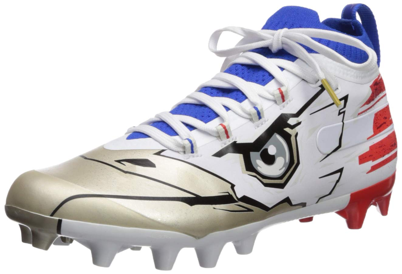 Under Armour Men's Spotlight-Limited Edition Football Shoe Black (002)/Royal 8