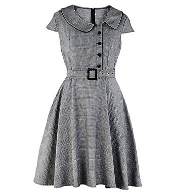 Vestidos De Fiesta Vestido Estilo Escocés Vintage para Mujer ...