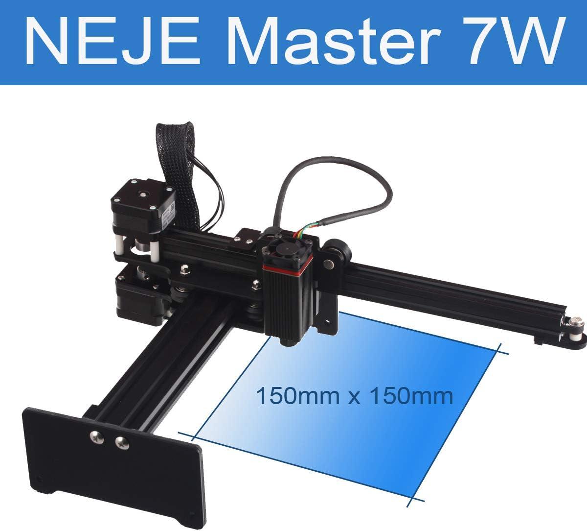 NEJE Master 7000mW Laser Cutter Desktop CNC Laser Engraving Machine Mini Carver Laser Engraver Cutter DIY Logo Marker Printer APP Control for Windows, Mac, Android, Wood Cutting,Large Working Area