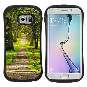 """Hypernova Slim Fit Dual Barniz Protector Caso Case Funda Para Samsung Galaxy S6 EDGE [naturaleza parque bosque de la primavera""""]"""