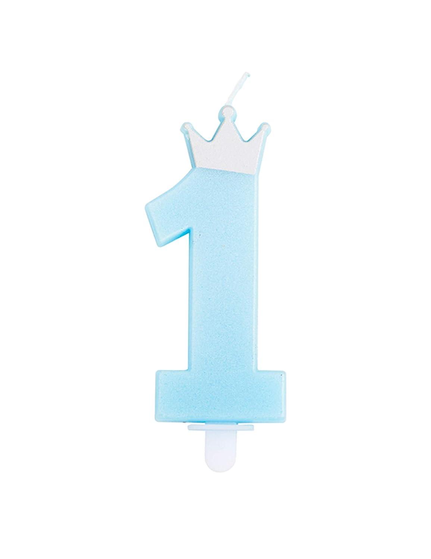 Givi Italia Vela Azul Clara número 1 con Corona Plateada ...