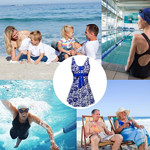 con Piece fondo Signore Swimwear Size Blu Tesoro Plus Boyshort Retro Costume ALICECOCO One Nuoto Polka U7dv8wxaqw