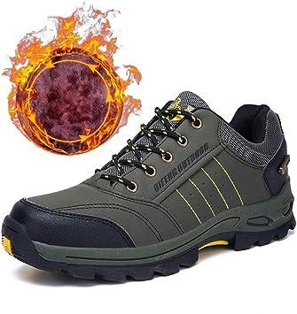 LHY SHOES Zapatillas de Deporte para Hombres, Calzado Deportivo Verde Militar cálido y Transpirable Botas de Terciopelo de Felpa Trekking Caza Turismo Zapatillas para Correr para otoño e Invierno: Amazon.es: Deportes y
