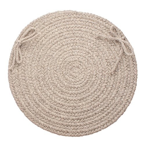Wool Chair Pads - Solid Wool Chair Pad, Light Gray