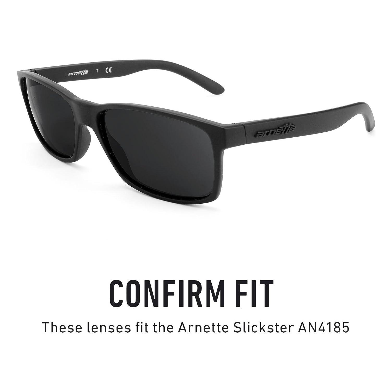 2b029c8e8a Amazon.com  Revant Polarized Replacement Lenses for Arnette Slickster AN4185  Elite Black Chrome MirrorShield  Sports   Outdoors
