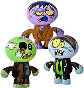 """5Star-TD Set of 3 Crazy Inflatable Zombies (24"""") Party Decor/Favor Toy"""