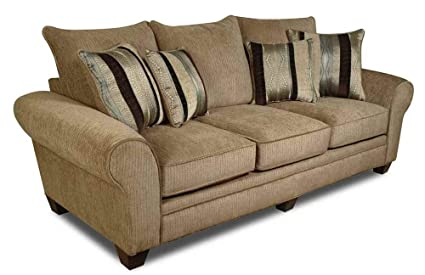 Amazoncom American Furniture Upholstered Sofa In Waverly Suede