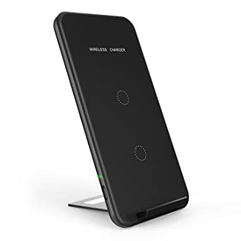 Wireless Charger, INCHOR Qi Certified Fast Wireless Charging 10W Wireless Charging Stand for Galaxy S7/S8/S8/S9/Note8, 7.5W Fast Wireless Charging Pad ...