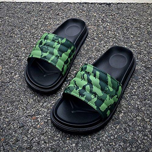 fankou 40 nero donne estate spessa leisure verde pantofole skid pantofole pantofole camuffamento giovane anti e coperta wrqUwa6O