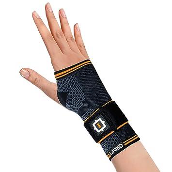 Urbo muñequera de compresión aprobada por FDA y CE con soporte ergonómico para problemas de uso del ordenador, síndrome del túnel carpiano, ...