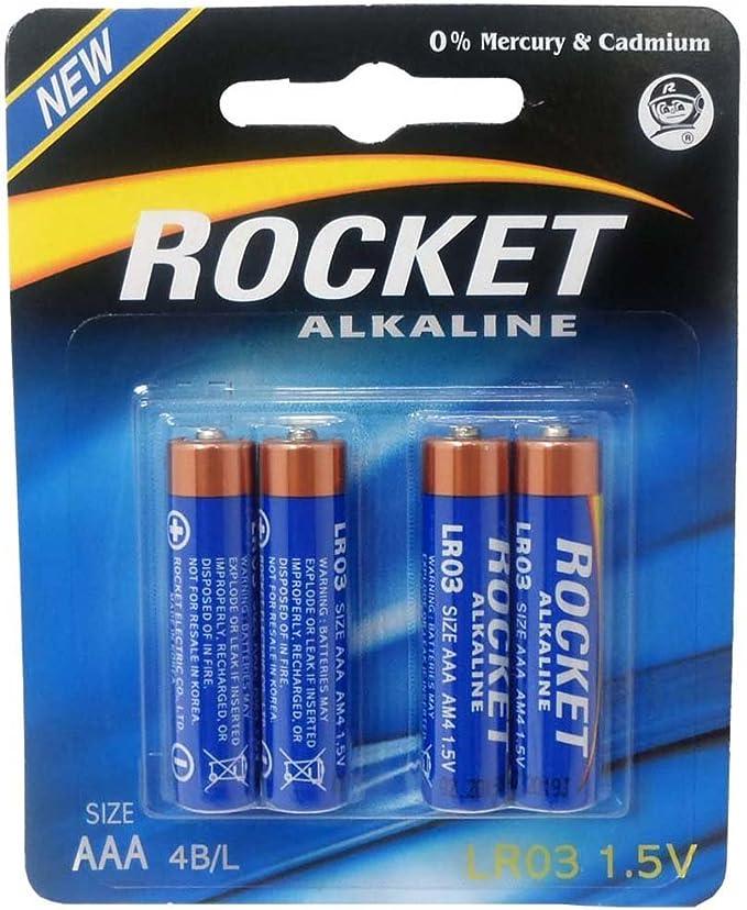 Amazon Com Rocket 4 Piece Package Of Rocket Brand Aaa Batteries Pack Of 2 Sets Ba Aaa Rt Electronics