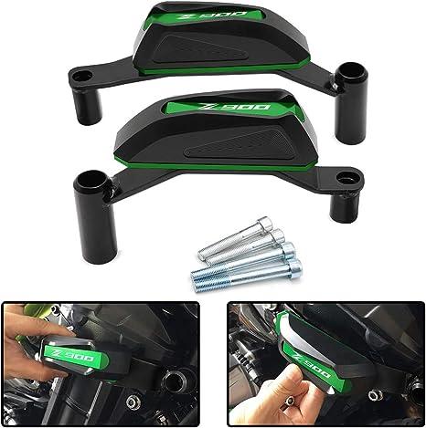 Color : Black Cadre moto aluminium CNC curseur protection moteur Crash Pad for Kawasaki Z650 Protecteur 2017-2018 Simple