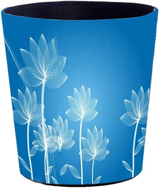 Kitchen or Bathroom GODNECE Childrens Waste Paper Bin 10 L Leather Round Waste Paper Bin for Office