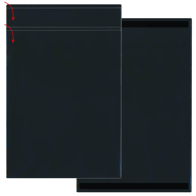 STORE SMART - 25-Pack Black Document Holder with Title Pocket - Vertical - R2003PQBKM-25