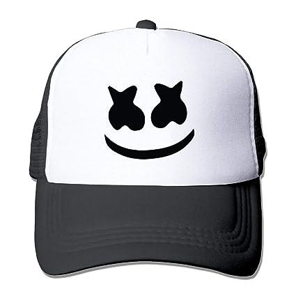 015423858b5 Unisex mesh baseball cap Marshmello face Trucker Hat (5 colours)