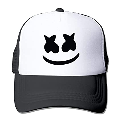 Amazon.com   Unisex mesh baseball cap Marshmello face Trucker Hat (5 ... a783acbc1469