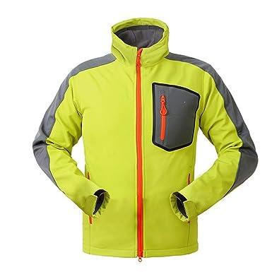 8c046b6a80c9 ASDQ Waterproof Windproof Softshell Jacket Men Hiking Fleece Rain ...