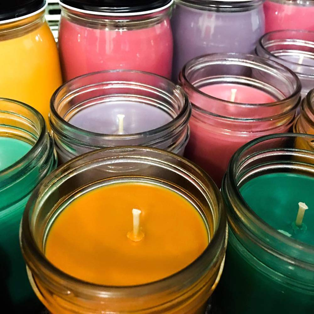 Container Jars, tins CandleDiy 100 Pieces Natural Candle Wicks 6 inch Pre-Waxed Low Smoke/&100/% Cotton Core Wicks for Making Votive Candle Wicks for Candle Making,Soy Candle DIY