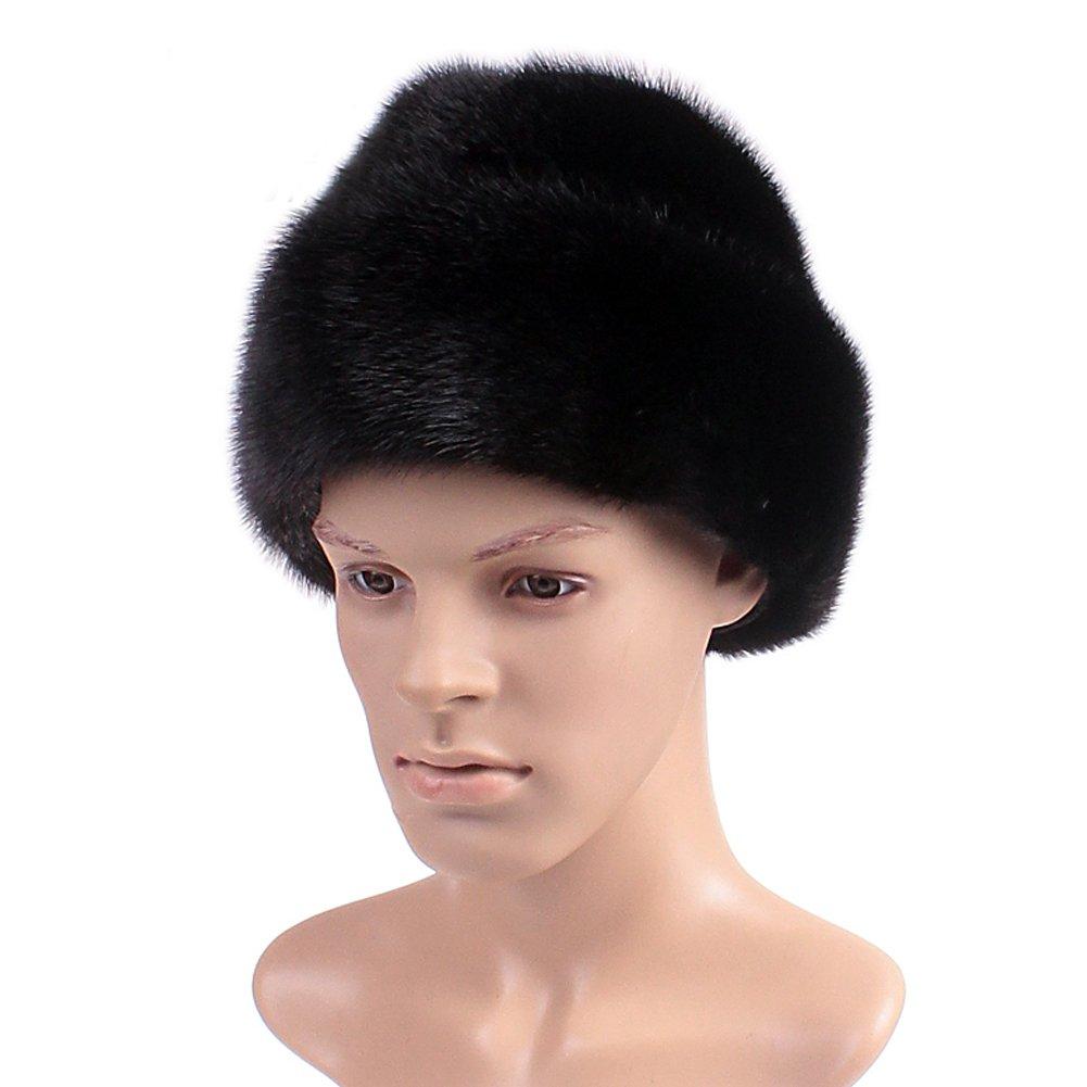 Dikoaina Men's Whole Set Mink Full Fur Russian Cossack Hat Large Black by Dikoaina (Image #6)