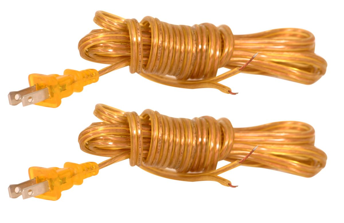 Antique Gold 8 feet CO-1001-AGL-8-2 Set of 2 SPT-1 Royal Designs Lamp Cord with Molded Plug