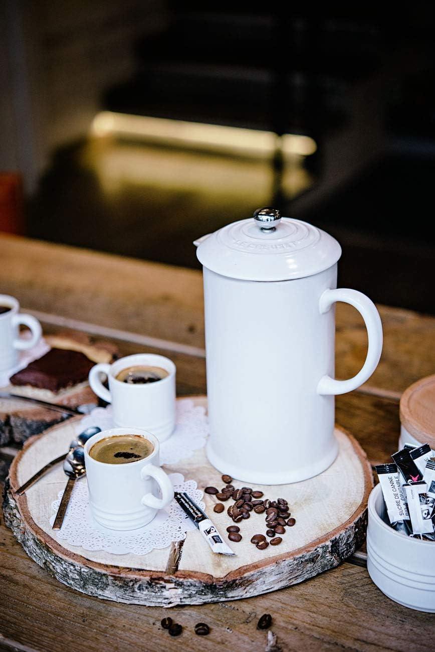 Le Creuset Stoneware Cafetiere Almond White