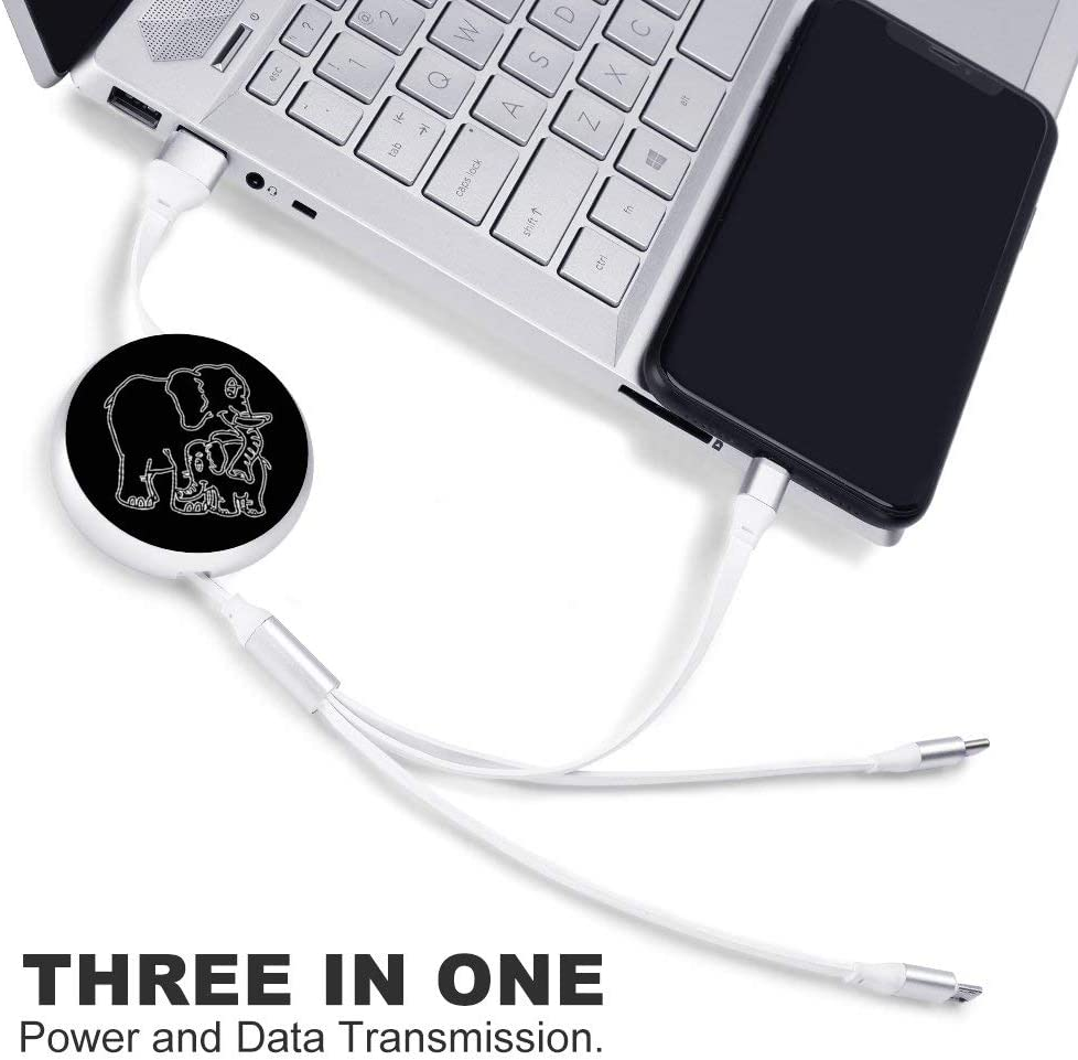 Circular Data Line Elephant Mom2 Beautiful and Multifunctional Mobile Phone Data Cable 5.65.62.2cm