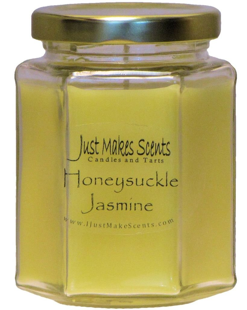 Honeysuckle Jasmine Scented Blended Soy Candles by Just Makes Scents C14409HYLM