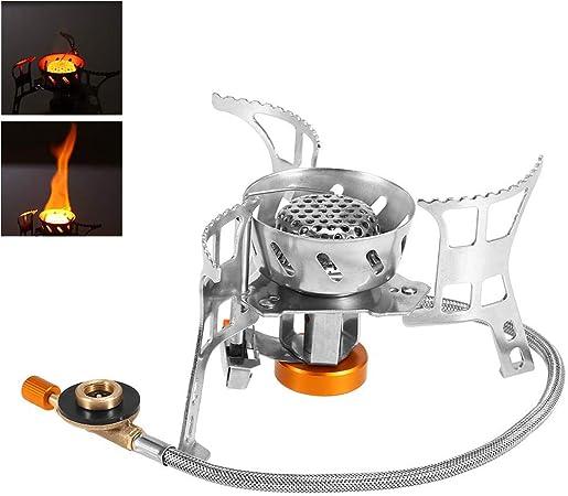 Estufa de Camping a Gas Plegable Mini Estufa de Gas con ...