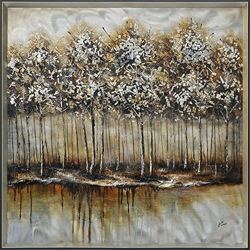 Renwil Multicolor Metallic Forest Wall Decor