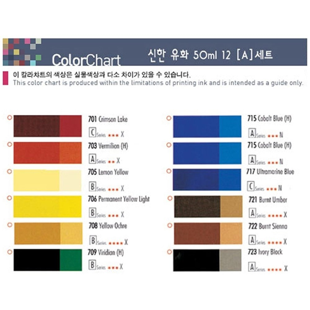 Amazon Shinhan Professional Oil Paints 20ml 12 24 36 Colors